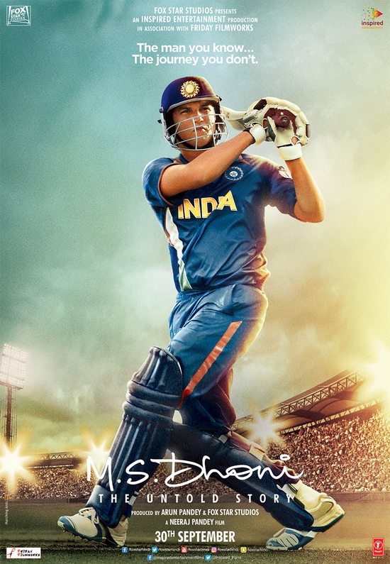 M.S. Dhoni – The Untold Biopic Poster