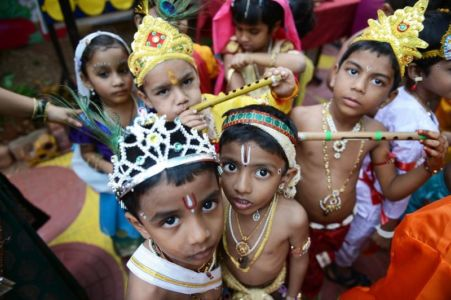INDIA-RELIGION-HINDUISM-JANAMASHTHAMI