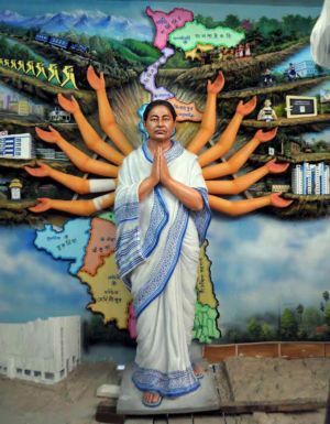 Mamata Banerjee shown as Devi Durga